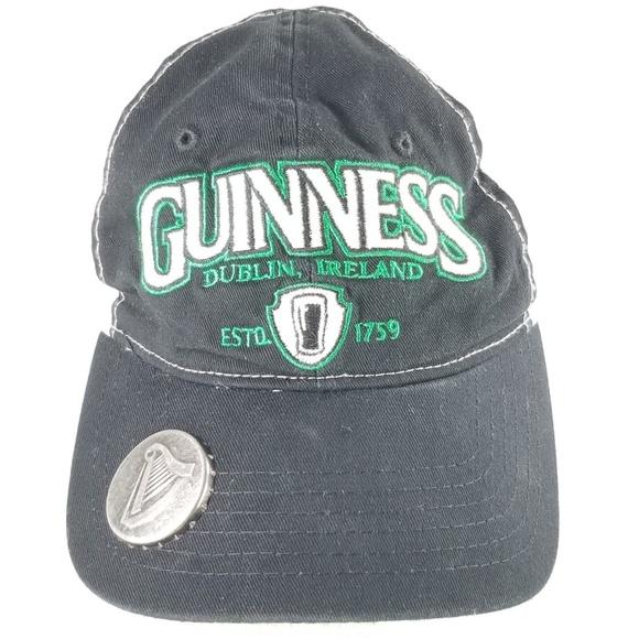 b176df246 Guinness Black Bottle Opener Snapback Ball Cap